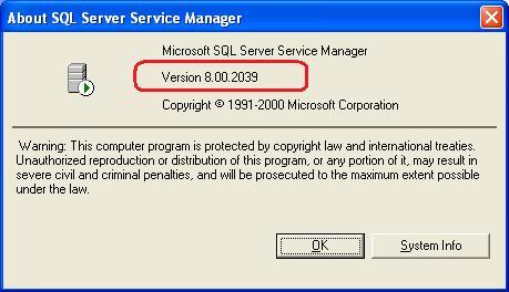 Microsoft SQL Server 2000 verzió