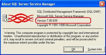 Microsoft SQL Server 7 verzió