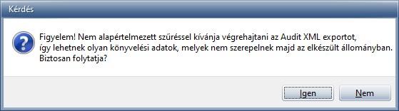 Audit XML - Üzenet