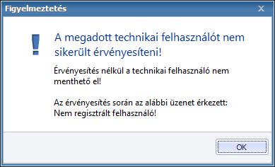 Technikai felhasználó ellenőrzése 2